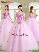 New Arrivals 2016 Straps Quinceanera Dresses with Strapless YCQD013FOR