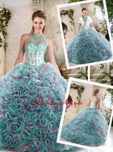New Arrivals Halter Top Quinceanera Dresses with Appliques SJQDDT214002FOR