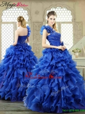 New Arrivals One Shoulder Ruffles Quinceanera Gowns for 2016 YCQD024FOR