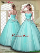 New Style Beading Sweetheart Quinceanera Dresses in Aqua Blue YCQD048FOR