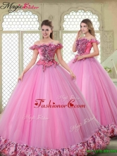New Style Off the Shoulder Quinceanera Gowns in Multi Color YCQD032FOR