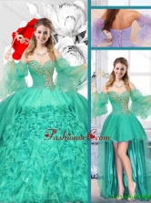 New Style Sweetheart Detachable Quinceanera Gowns with Ruffles SJQDDT123001FOR