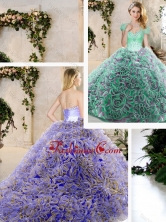 New Style Sweetheart Quinceanera Dresses with Beading and Ruffles SJQDDT209002FOR
