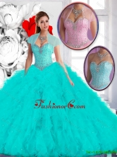 Perfect 2016 Ball Gown Quinceanera Dresses with Ruffles SJQDDT132002-1FOR
