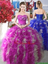 Perfect Applique and Ruffled Sweet 16 Gown with Puffy Skirt YYPJ007FOR