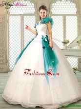 Perfect Appliques Multi Color Quinceanera Dresses with Ruffles YCQD011-2FOR
