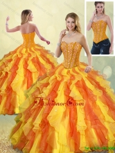 Perfect Multi Color Sweetheart Quinceanera Gowns with Beading SJQDDT186002-2FOR