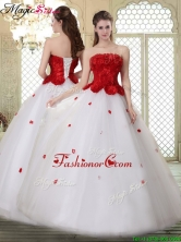 Popular A Line Strapless Quinceanera Dresses with Ruffles YCQD071FOR