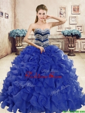 Popular Beaded and Ruffled Big Puffy Quinceanera Dress in Organza YYPJ059-1FOR