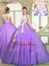 Popular Beading and Appliques Quinceanera Gowns with One Shoulder YCQD045FOR