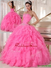 Popular Hot Pink Ball Gown Strapless Quinceanera Dresses  PDZY724AFOR