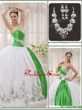 Popular Sweetheart Quinceanera Dresses with Embroidery for 2016  QDZY408CFOR