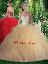 Pretty Ball Gown Beading and Ruffles Sweet 16 Gowns SJQDDT315002FOR