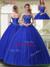 Pretty Ball Gown Sweetheart Quinceanera Dresses in Royal Blue YCQD029FOR