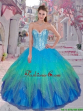 Pretty Sweetheart Sequined Quinceanera Gowns in Multi Color SJQDDT92002FOR