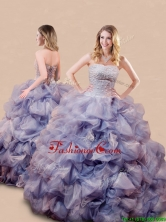 Romantic Beaded and Bubble Big Puffy Quinceanera Dress in Lavender XFQD1189FOR