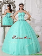 Romantic Green Ball Gown Sweetheart Quinceanera Dresses  QDZY590AFOR