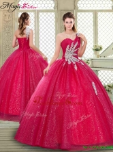 Spring Beautiful One Shoulder Quinceanera Gowns with Beading YCQD021FOR