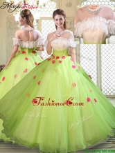 Spring Beautiful Scoop Quinceanera Dresses with Ruffles  YCQD065FOR