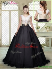 Winter Exquisite Brush Train Quinceanera Dresses with Feather and Bowknot YCQD035FOR