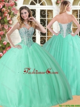 Wonderful Beaded Quinceanera Dress in Apple Green for Spring YSQD005FOR