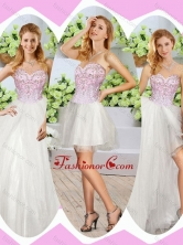 Wonderful High Slit Beading Detachable Sweet Quinceanera Dresses in White SJQDDT247001FOR