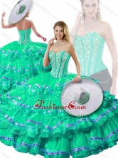 Wonderful Sweetheart Beading and Ruffled Layers Detachable Quinceanera Dresses SJQDDT254002-2FOR