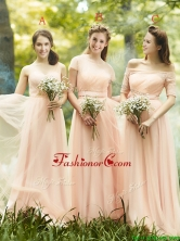 2016 Beautiful Floor Length Tulle Dama Dress in Peach BMT098FOR