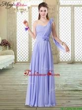 2016 Beautiful One Shoulder Floor Length Dama Dresses for Spring BMT068BFOR