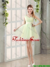 2016 Fall A Line Strapless Short Dama Dresses with Ruching BMT014C-1FOR