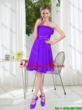 2016 Fall Popular A Line Strapless Dama Dress with Bowknot BMT001D-4FOR