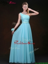 2016 Inexpensive Empire One Shoulder Dama Dresses with Appliques BMT069BFOR