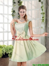 2016 Summer A Line Straps Lace Dama Dresses with Bowknot BMT010B-5FOR