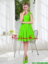 A Line Hand Made Flowers Dama Dresses in Spring Green BMT001C-11FOR
