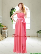Beautiful Strapless Watermelon Red Dama Dresses with Sash BMT055FFOR