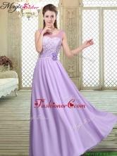 Best Scoop Lace Dama Dresses in Lavender BMT066DFOR