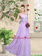 Classical 2016 Bowknot Dama Dresses with Floor Length BMT046DFOR