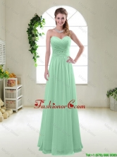 Comfortable Sweetheart Apple Green Dama Dresses with Ruching BMT047CFOR