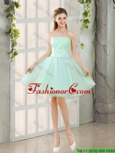 Custom Made A Line Strapless Dama Dresses with Belt BMT014A-5FOR