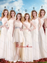 Elegant Empire Champagne Dama Dresses with Hand Made Flowers  BMT033FOR