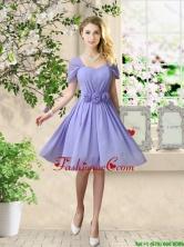 Elegant Hand Made Flowers Dama Dresses with Short Sleeves BMT056AFOR
