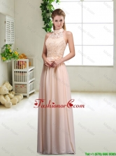 Elegant Laced and Bowknot Dama Dresses with Halter Top BMT045AFOR