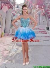 Elegant Short Multi Color Dama Dresses with Beading and Ruffles QDDTA83003FOR