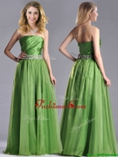 Exclusive Strapless Beaded Decorated Waist Dama Dress with Side Zipper THPD160FOR