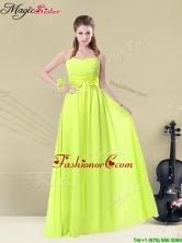 Fashionable Sweetheart Belt Dama Dresses in Yellow Green BMT008-10CFOR