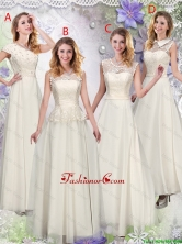 Feminine Champagne Laced Dama Dresses with Appliques BMT060FOR