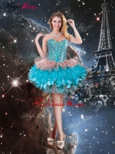 Gorgeous Sweetheart Short Dama Dresses with Beading for 2016 QDDTA112003FOR