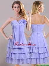 Hot Sale Ruffled Layers and Handcrafted Flower Dama Dress in Lavender THPD217FOR