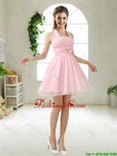 Latest Halter Top Chiffon Dama Dresses with Mini Length BMT051CFOR