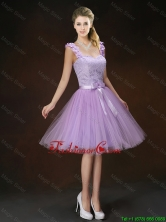 Luxurious Appliques and Bowknot Dama Dresses with Straps BMT063BFOR